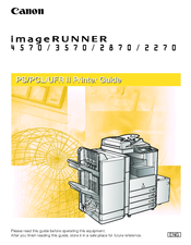 Canon iR 2270 Printer Manual