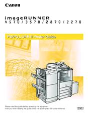 Canon iR 2270 Printer Manual