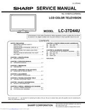 sharp aquos lc 37d44u manuals rh manualslib com Sharp View Cam Cameras Manual Sharp Atomic Clock SPC 891