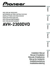 Pioneer AVH-2300DVD Installation Manual