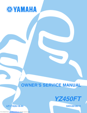 Yamaha YZ450F(T) Owner's Service Manual