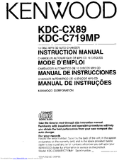 Kenwood KDC-C719MP Instruction Manual