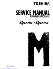 Toshiba DP120F Service Manual