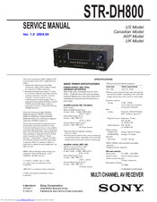 Sony str-dh800 manuals.