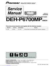 pioneer deh p6700mp manuals rh manualslib com Pioneer DEH-P6700MP Wiring-Diagram pioneer deh-p6700mp service manual