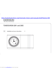 Grasslin Towerchron Qm1 Installation And User Instructions