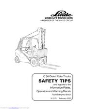 linde h 70 02 h 80 02 manuals rh manualslib com Owner's Manual Owner's Manual