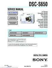 sony dsc s650 cyber shot digital camera manuals rh manualslib com Sony Cyber-shot DSC WX70 Sony Cyber-shot DSC-WX80