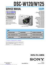 sony dsc w120 service manual pdf download rh manualslib com sony cyber shot dsc-w120 super steady shot manual manual de camara sony cyber shot dsc-w120