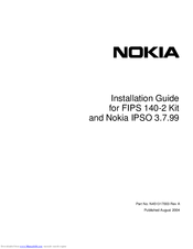 Nokia IP380 - Security Appliance Installation Manual