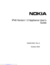 Nokia IP40 - Satellite Unlimited - Security Appliance User Manual