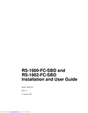 XYRATEX RS-1600-FC-SBD INSTALLATION AND USER MANUAL Pdf Download