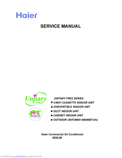 HAIER AU282AHBEA SERVICE MANUAL Pdf Download. on