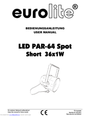 Eurolite par 64 led manual.
