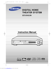 Samsung HT-DM150 Instruction Manual