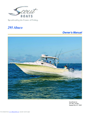 scout boats 295 abaco manuals rh manualslib com owners manual tracker boats owners manual chaparral boats