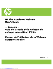 HP Elite Autofocus Webcam User Manual