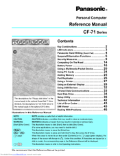 Panasonic CF-71 Series Reference Manual