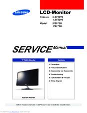 samsung manual p2770hd