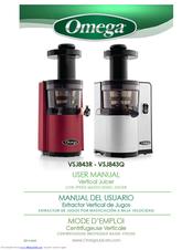 omega vsj843r manuals rh manualslib com omega 8006 juicer manual pdf omega juicer 8005 manual