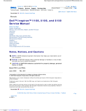 Dell INSPIRON Inspiron 1100 Service Manual