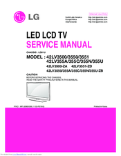lg 42lv3500 service manual pdf download rh manualslib com lg lcd tv owner's manual lg lcd tv service manual free download
