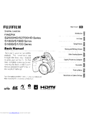 Fujifilm FinePix S1900 Series Manuals