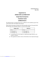 Motorola MVME197SP Installation Manual