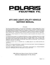 Polaris Magnum 2x4 Service Manual Pdf Download Manualslib