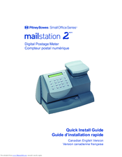 Pitney Bowes Small Office Series Mailstation 2 Quick Install Manual Pdf Download Manualslib