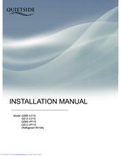 QUIETSIDE QS09-VJ115 INSTALLATION MANUAL Pdf Download