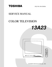 Toshiba 13A23 Service Manual