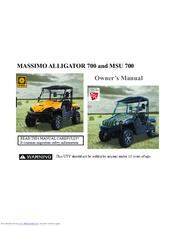 MASSIMO MSU 700 OWNER'S MANUAL Pdf Download