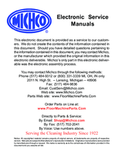 Nilfisk-advance captor 4800 manuals.