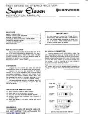 kenwood super eleven manuals rh manualslib com