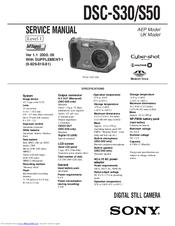 Sony cyber-shot dsc-s50 1. 9mp digital camera silver | ebay.