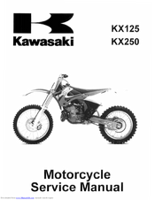 Kawasaki KX125 2000 Service Manual