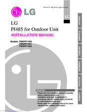 LG PMNFP14A1 Installation Manual