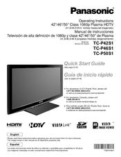panasonic tcp46s1 46 plasma tv manuals rh manualslib com panasonic viera plasma tv manual tc 55as680u panasonic viera th-42pz80u plasma tv manual