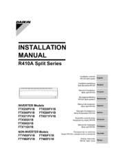 Daikin FTKS71FV1B Installation Manual