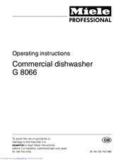 miele dishwasher instructions manual
