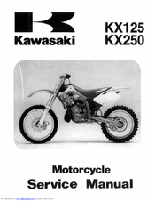 Kawasaki kx125 1997 Service Manual