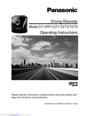 Panasonic CY-VRP112T4 Operating Instructions Manual