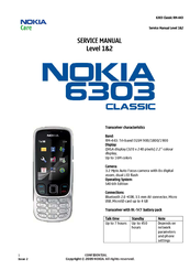 Nokia 6303c buzzer, ringer solution language tracks and roads blues.