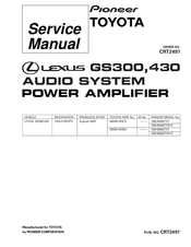 Pioneer GM-8606ZT-91 Service Manual