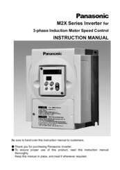Panasonic M2X044 Series Instruction Manual