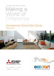 Mitsubishi Electric Ecodan Homeowner Quick Start Manual