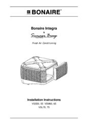 Bonaire VSL75 Manuals