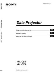 sony vpl cs5 operating instructions manual pdf download rh manualslib com