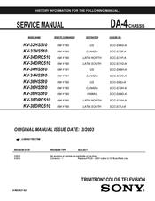 sony kv 34hs510 34 crt tv manuals rh manualslib com HP Owner Manuals Service ManualsOnline